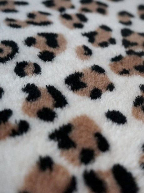 Picture of Q Parka: Leopard Parka Style Fleece Bathrobe